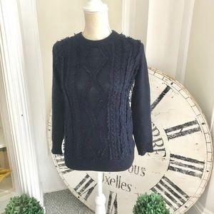 100% Merino wool navy J Crew sweater